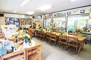大血川渓流観光釣場店内で塩焼き注文可能写真