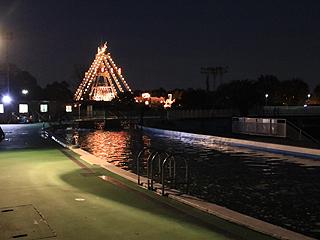 としまえんフィッシングエリア(冬季限定)夜の釣り場写真