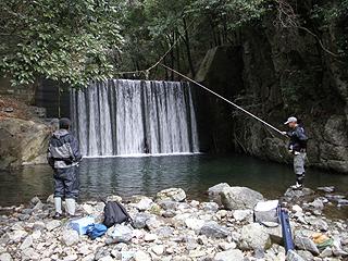 安威川上流(龍仙峡)の渓流釣り場画像