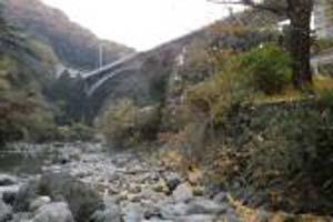 安威川上流(龍仙峡)の渓流釣り場写真
