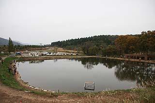 五頭フィッシングパーク北側から写真