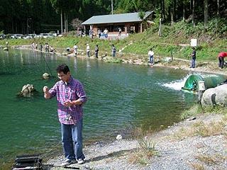 朽木渓流魚センター ルアーフィールド画像