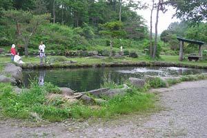 北川養魚場遊楽の池えさ池写真