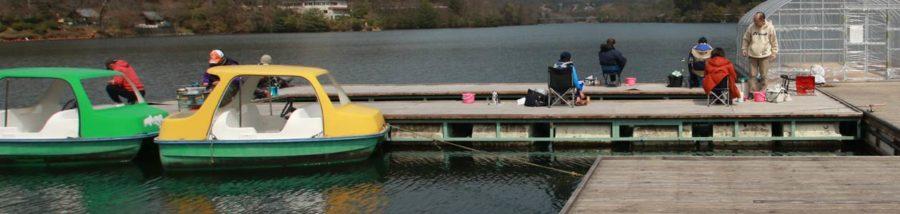 津風呂湖 わかさぎ