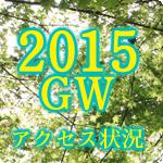 2015年ゴールデンウイーク県別アクセス動向